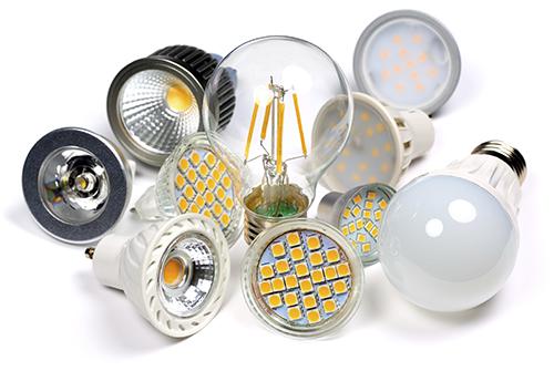 Assorted LED bulbs