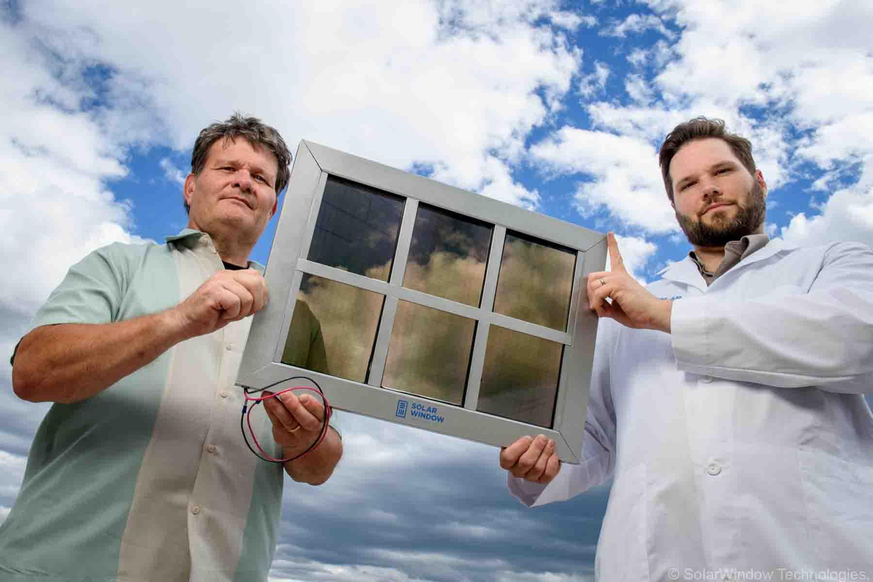 SolarWindow electricity-generating window model