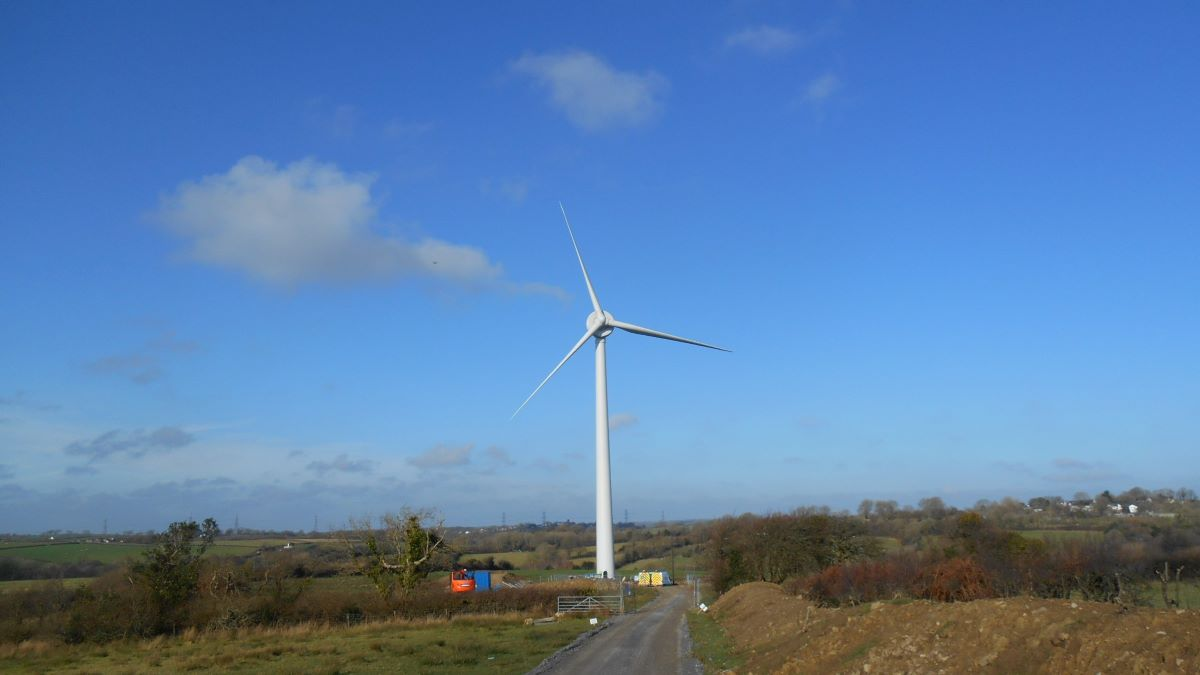 Wind turbine in Wales