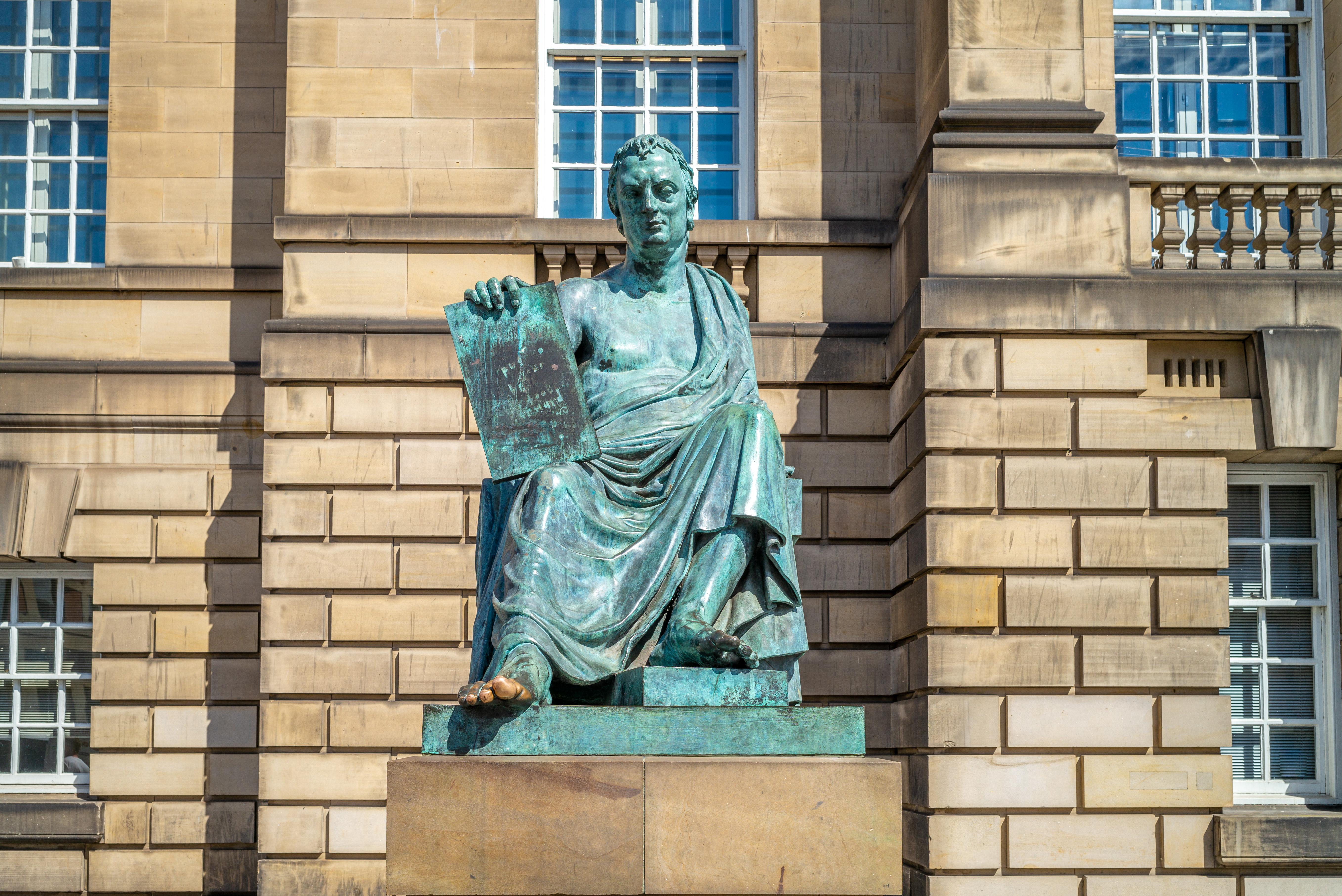 David Hume statue Edinburgh