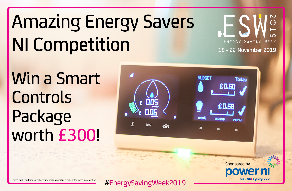 Amazing Energy Savers NI competition graphic