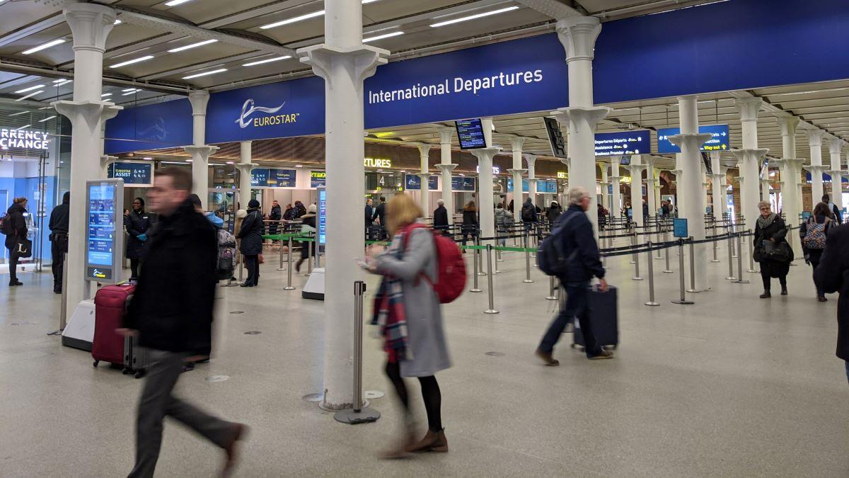 Eurostar terminal London St Pancras