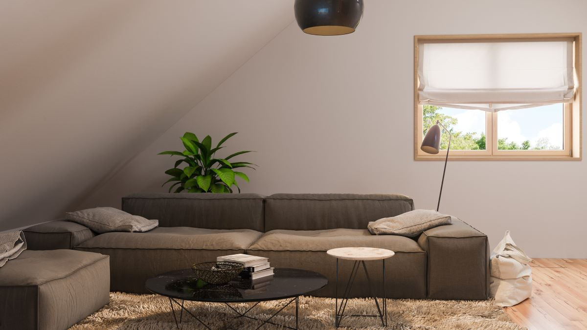 living area in a loft conversion