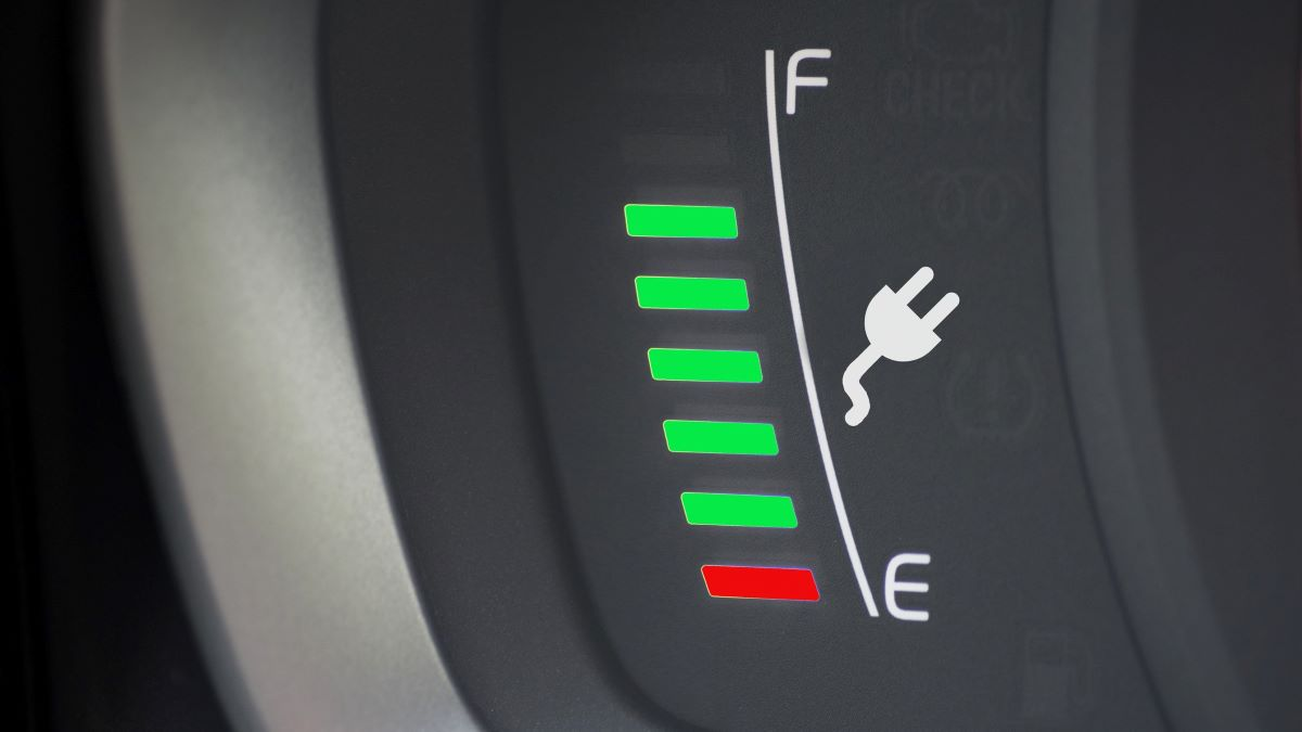 fuel gauge on an electric vehicle