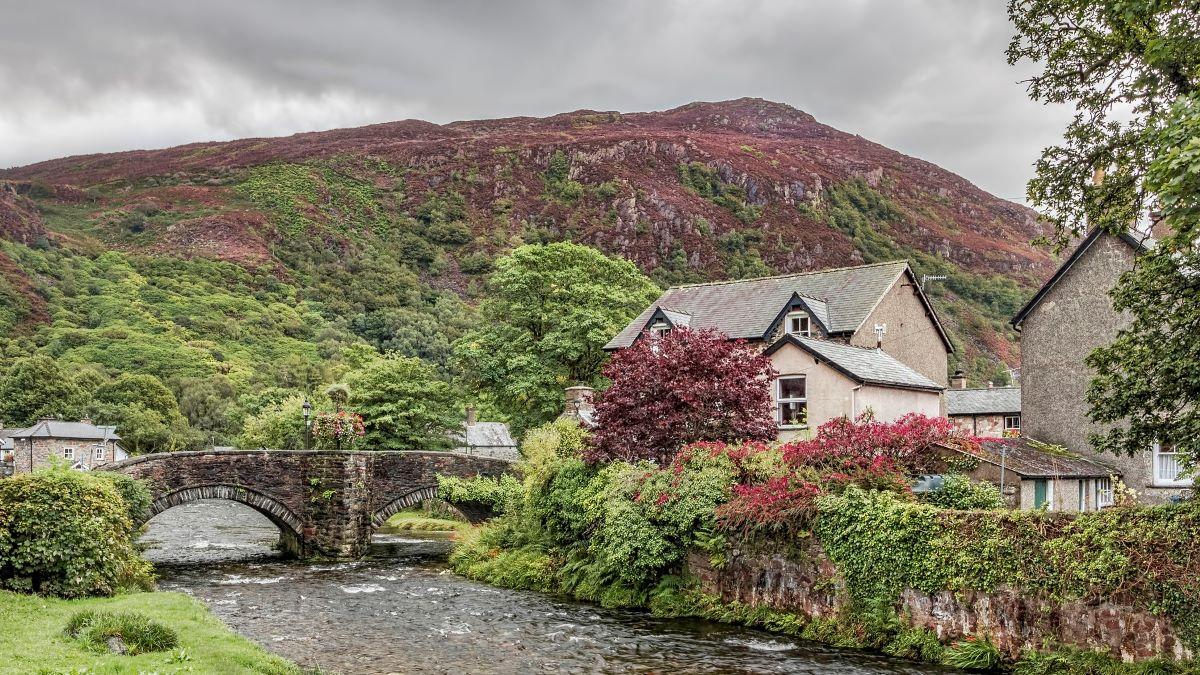 Welsh village in Snowdonia national park