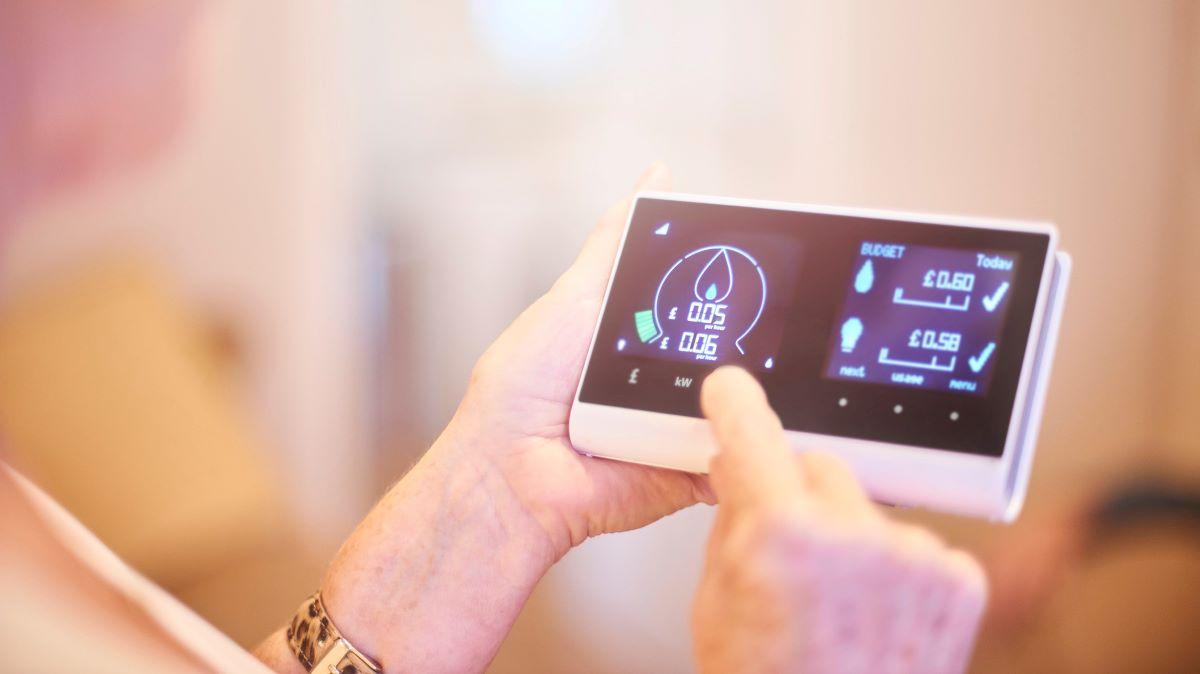 woman using a smart meter