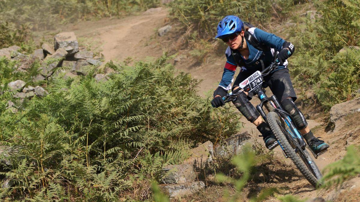 Gill on mountain bike