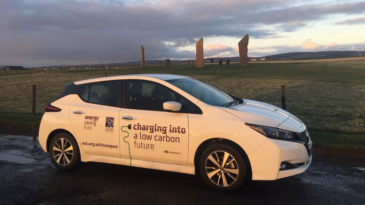 StEVie the electric vehicle on the road
