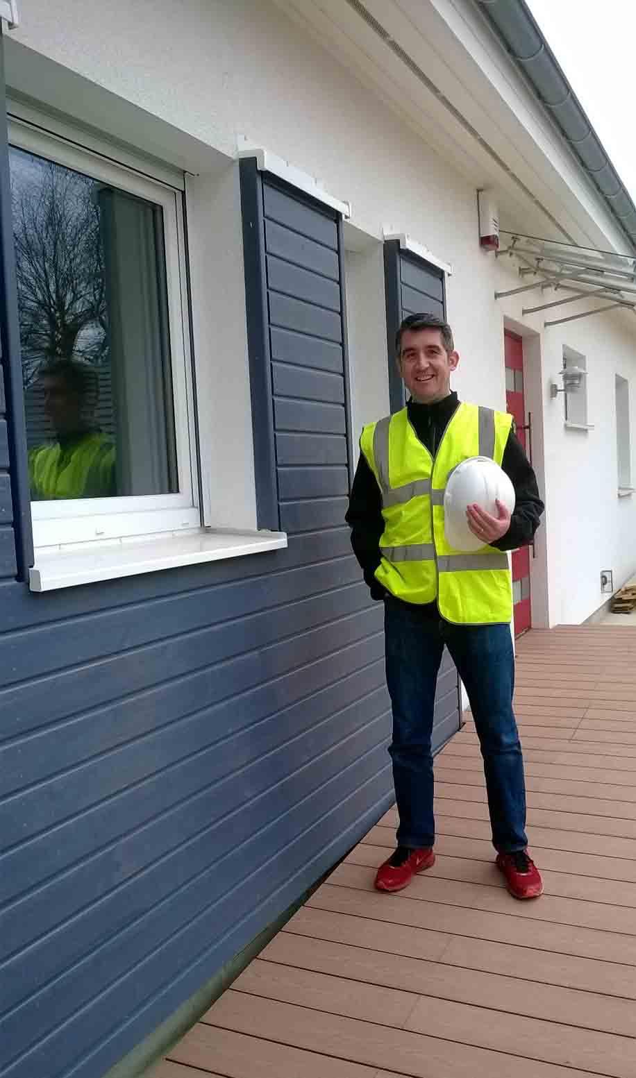 Julian Roberts built an eco home