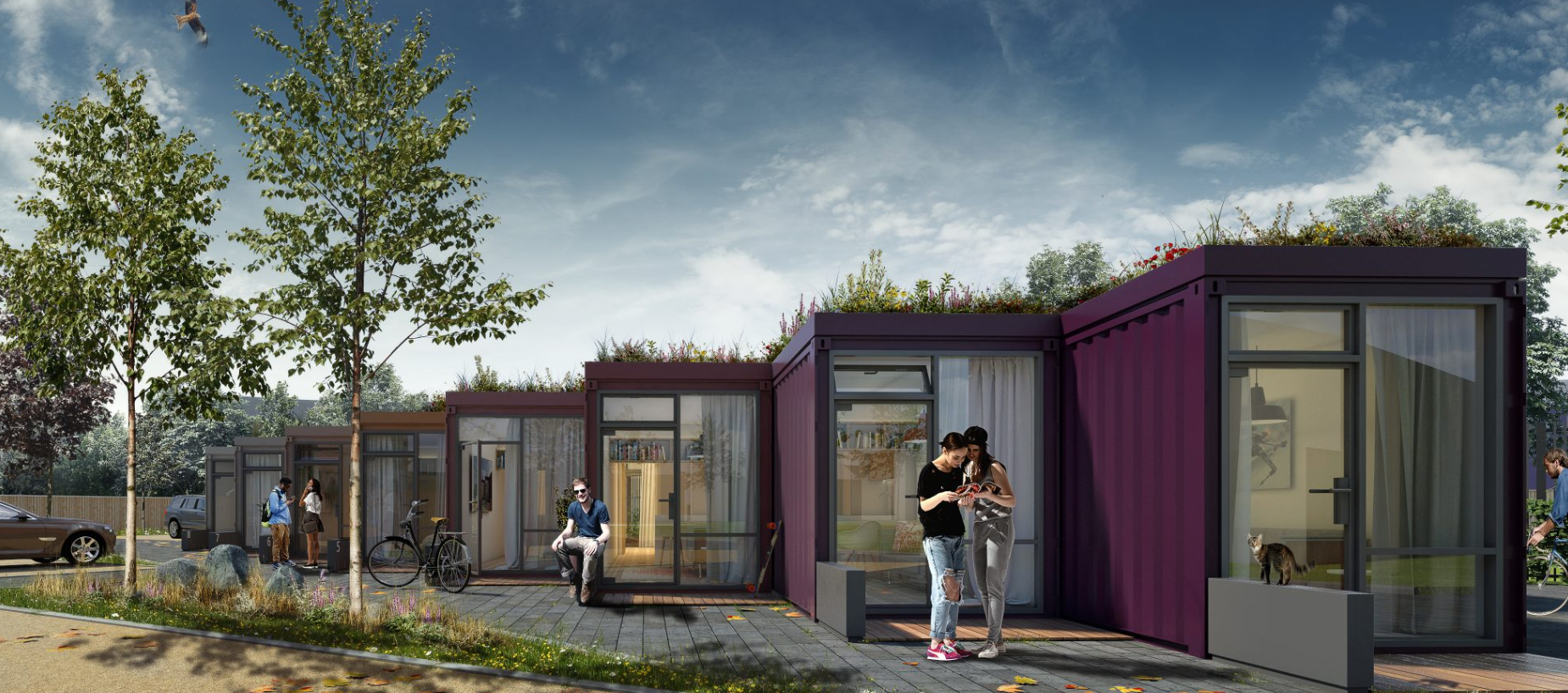 Shipping container living - FBM architects