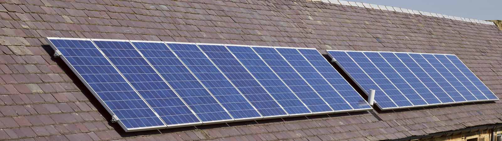 Solar PV on a roof