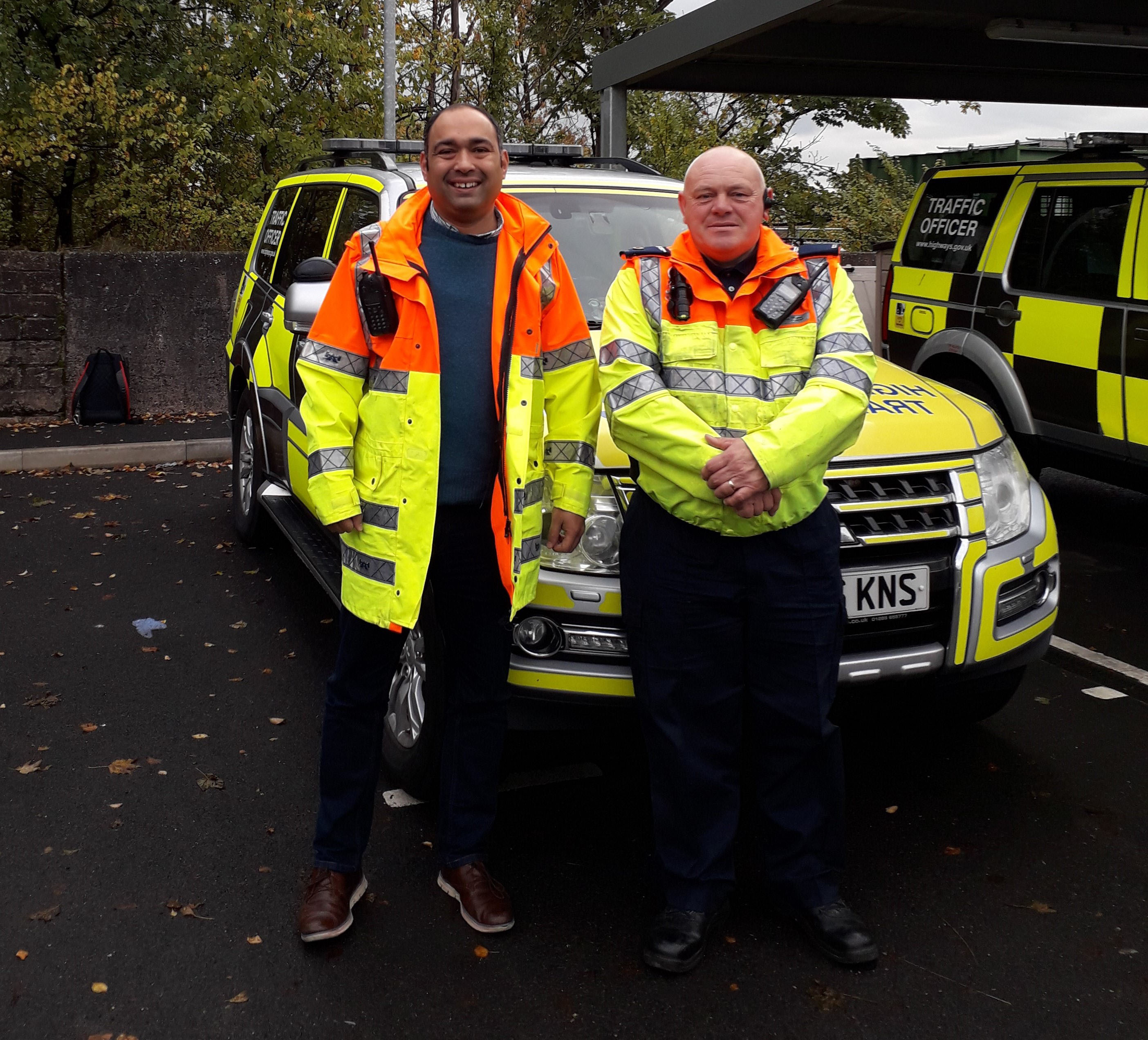 Tim Anderson with Deano Shieders from Cheshire Traffic Patrol