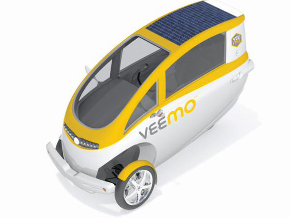 The three-wheeled green Veemo micro machine