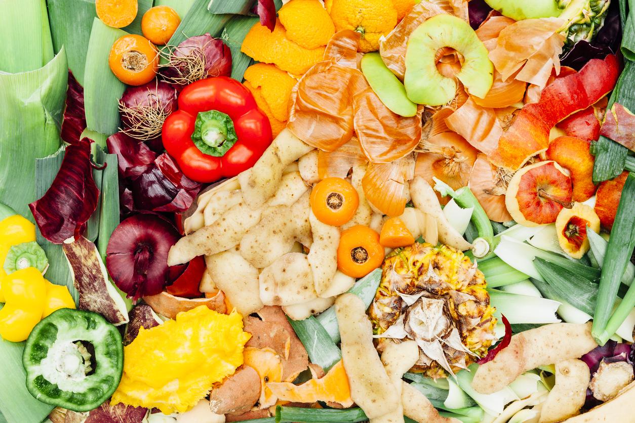 Food waste for composting