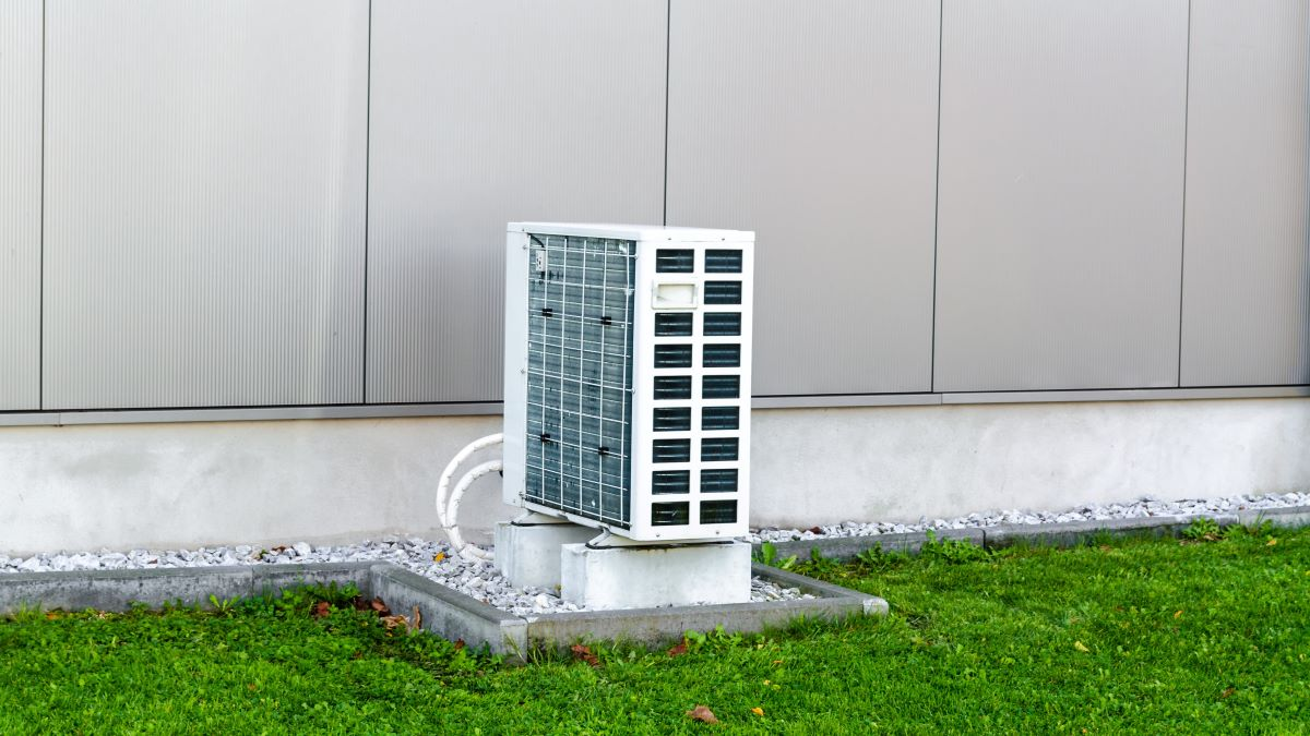 air source heat pump external unit