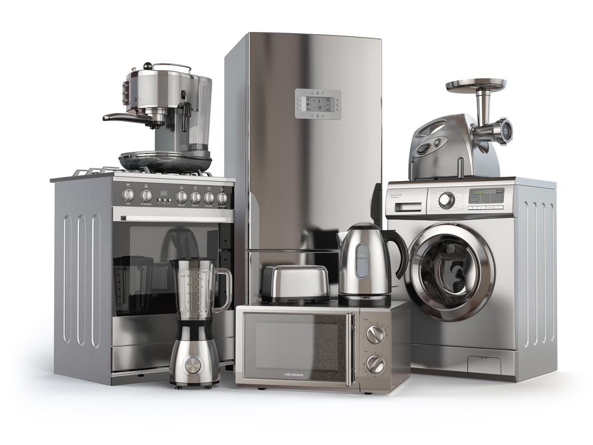 group of kitchen appliances