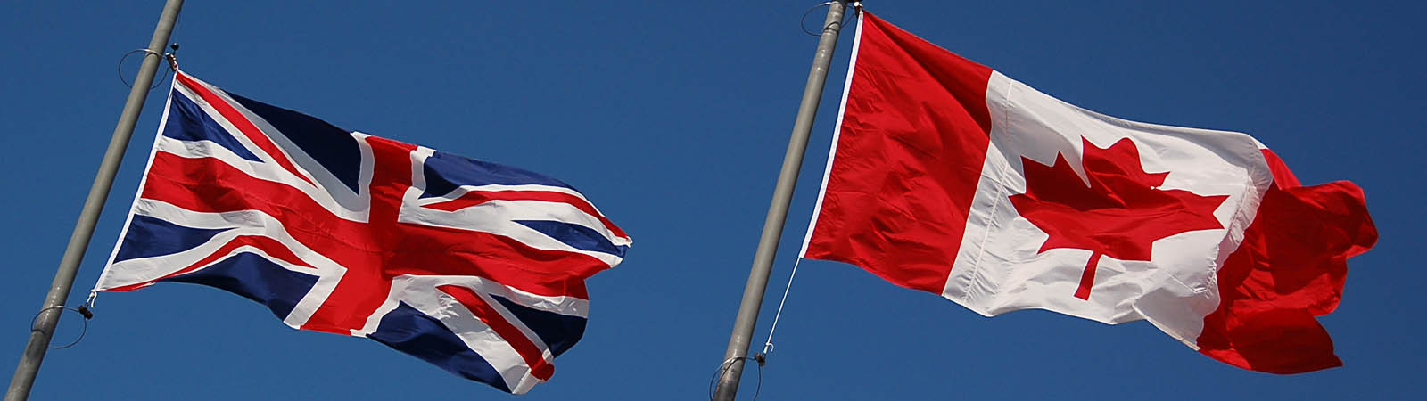 Union Jack and Canadian flags