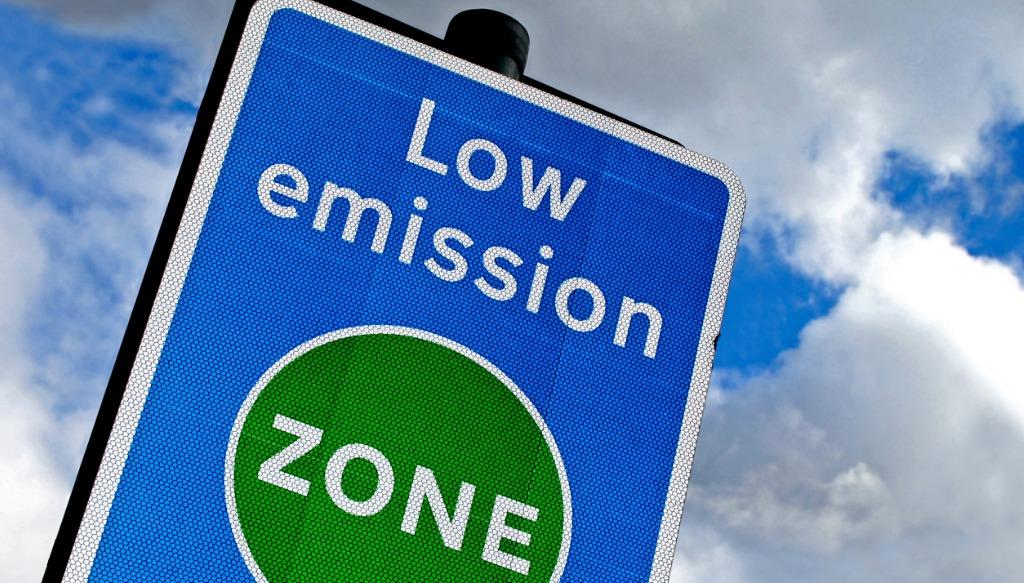 Low emission zone in London