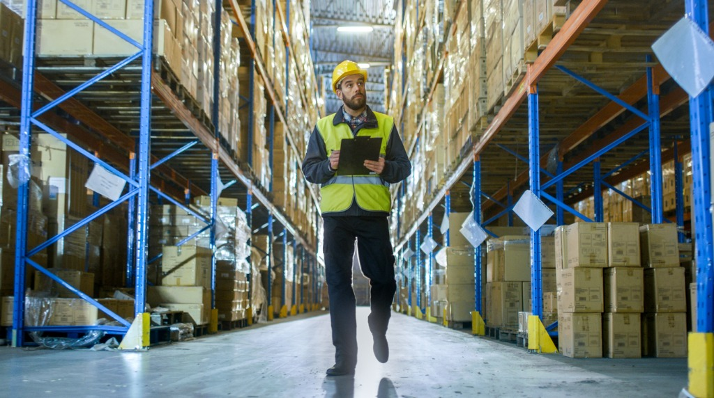 logistics overseer in a warehouse