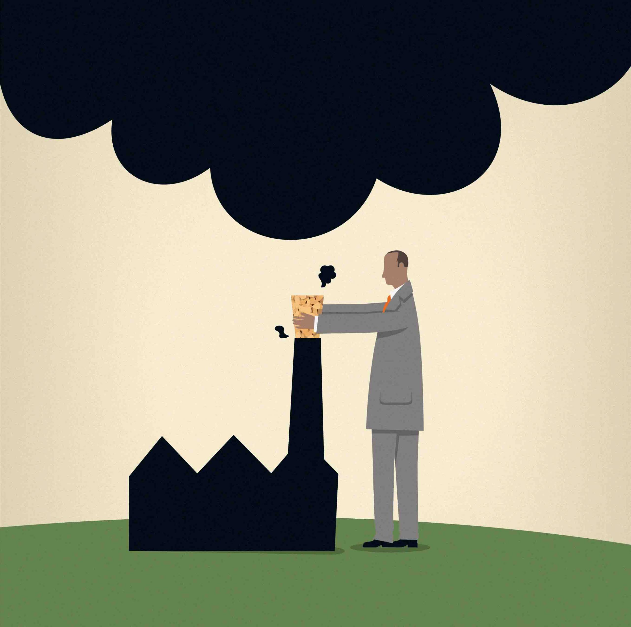 Large businesses and organisations can reduce their emissions and carbon footprint
