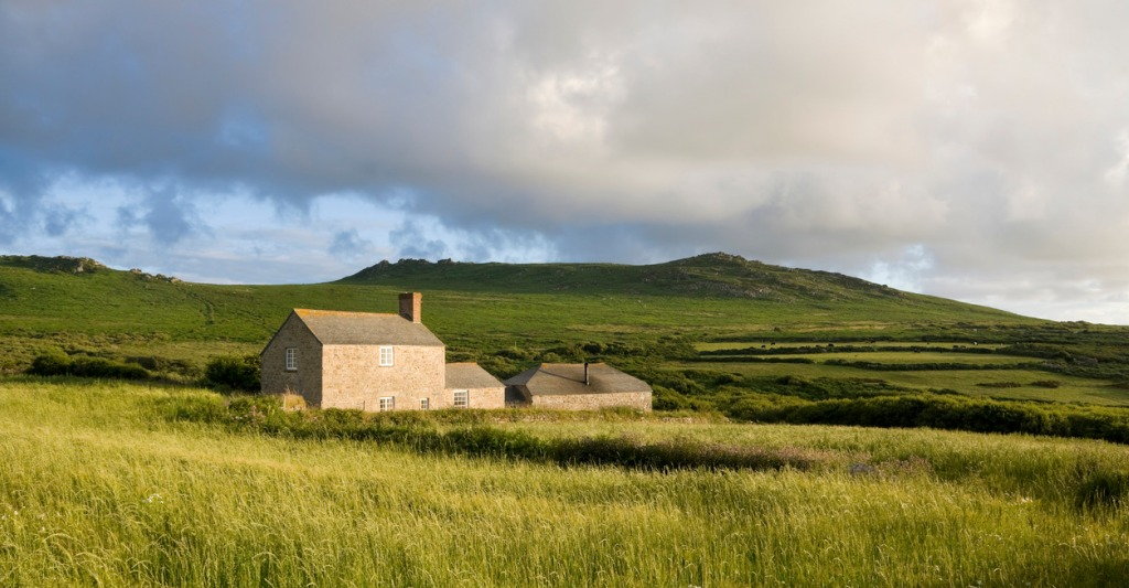 remote farmhouse near moorland