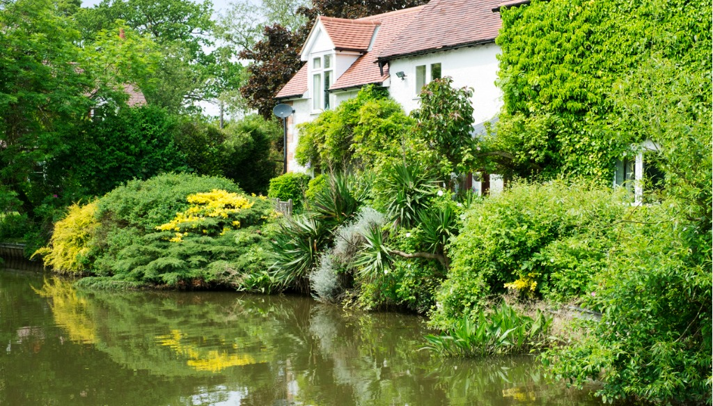house by canal