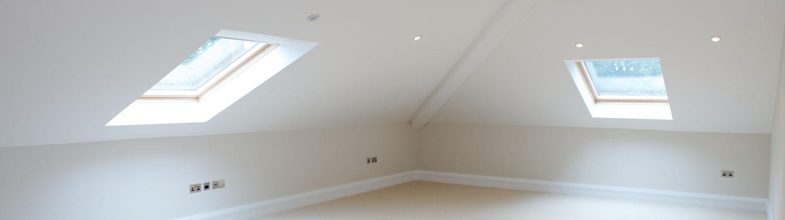 Loft conversion - windows on an empty room