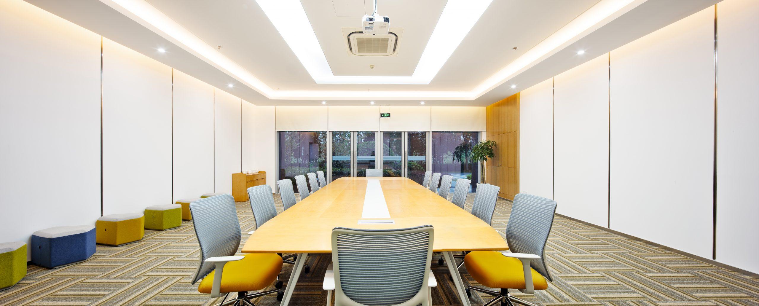 Lighting in an office board room