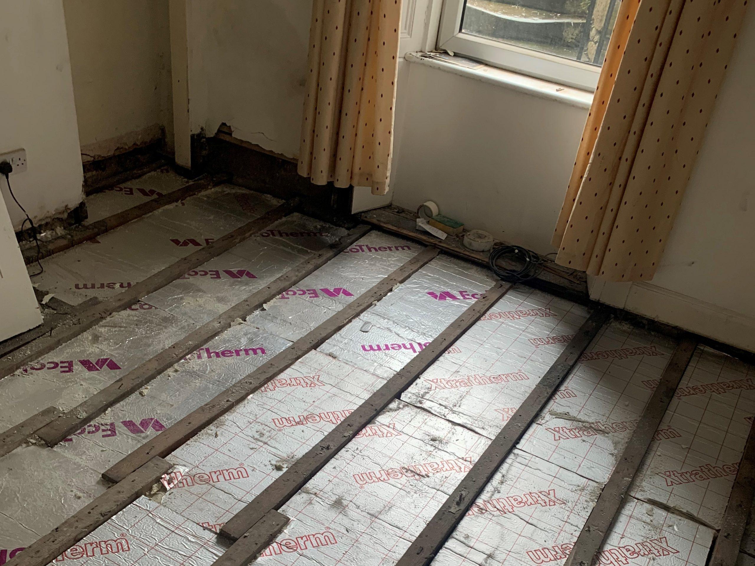 Joanna installed underfloor heating.